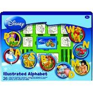Multiprint - Set educativ cu stampile Alfabet Disney 46 piese, 26 stampile, tus, 18 carioci si caiet cu activitati  MP1936