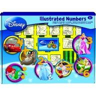 Multiprint - Set educativ cu stampile Numere Disney 46 piese, 26 stampile, tus, 18 carioci si caiet cu activitati  MP1937