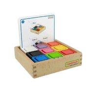 Masterkidz - Set educativ cuburi si patrate-recipient, din lemn,+2 ani, , pentru gradinite