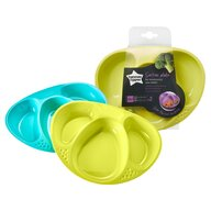 Tommee Tippee - Set farfurii compartimentate Explora, 2 buc, Turquoise/Galben