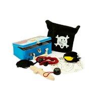 MamaMemo - Set joaca De-a piratii, in cutie metalica, 15 accesorii,