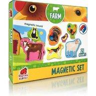 Roter Kafer - Jucarie magnetica Animale de la ferma 21 piese, Cu plansa magnetica inclusa
