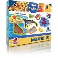 Roter Kafer - Jucarie magnetica Animale marine 21 piese, Cu plansa magnetica inclusa