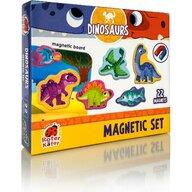 Roter Kafer - Jucarie magnetica Dinozauri 22 piese, Cu plansa magnetica inclusa