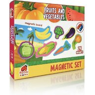 Roter Kafer - Jucarie magnetica Fructe si legume 24 piese, Cu plansa magnetica inclusa