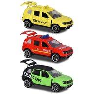 Majorette - Set  Dacia Duster masina taxi, masina de pompieri si masina negru cu verde