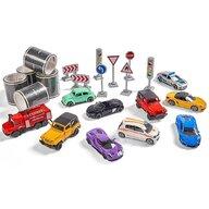 Majorette - Set Mega box 10 masinute si accesorii