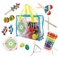 Ecotoys - Set instrumente In geanta, Cu 14 instrumente din Lemn