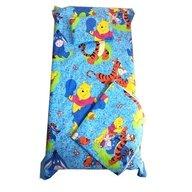 Deseda - Set Paturica bebe cu Cearsaf si Pernuta pt pat 120x60 cm Distractie cu aiurila albastru