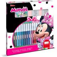Multiprint - Set pictura 22 piese, 2 stampile, tus, 18 carioci si caiet cu activitati Minnie  MP86866