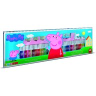Multiprint - Set pictura 96 piese, 4 stampile, tus, 60 carioci, 30 stickere si caiet cu activitati Peppa Pig  MP18875