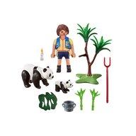 Playmobil - Set figurine Ursuleti Panda , City Life , Set portabil