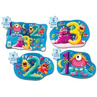THE LEARNING JOURNEY - Puzzle educativ 1 2 3  4 in 1 Puzzle Copii, piese 20