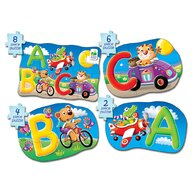 THE LEARNING JOURNEY - Puzzle educativ ABC  4 in 1, In limba engleza Puzzle Copii, piese 20