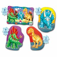 THE LEARNING JOURNEY - Puzzle animale Dinozauri  4 in 1 Puzzle Copii, piese 20
