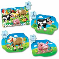 THE LEARNING JOURNEY - Puzzle animale Ferma  4 in 1 Puzzle Copii, piese 20