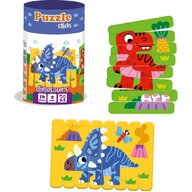 Roter Kafer - Puzzle animale Dinozauri Din betisoare Puzzle Copii, piese 16
