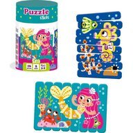 Roter Kafer - Puzzle animale Sirena si Calut de mare Din betisoare Puzzle Copii, piese 16