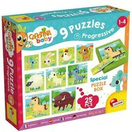 Lisciani - Puzzle animale Ferma Progresive Puzzle Copii, piese 25
