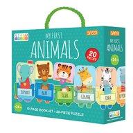 Sassi - Puzzle educativ Invatam animalutele Puzzle Copii, piese 20