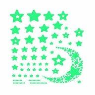 Iso Trade - Set stickere fosforescente in Forma de Stele si Semiluna, 52 Bucati  MY17368