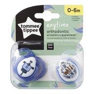Tommee Tippee - Set suzete ortodontice Anytime, 0-6 luni, 2 buc, Girafa albastra