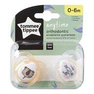Tommee Tippee - Set suzete ortodontice Anytime, 0-6 luni, 2 buc, Tigrut portocaliu