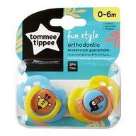 Tommee Tippee - Set suzete ortodontice de zi Fun, 0-6 luni, 2 buc, Girafa/Pasare