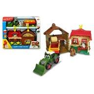 Simba - Set de joaca Ferma cu tractor cu remorca, Multicolor