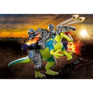Playmobil - Set de constructie Spinosaurus - putere dubla de aparare , Dino Rise