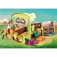 Playmobil - Jucarie Spirit - Spatiu ingrijire cai - Lucky si Spirit