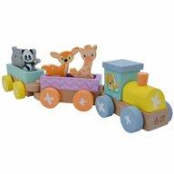 Studio Circus - Tren din lemn Cu animale