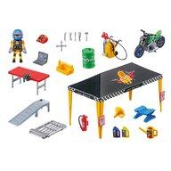 Playmobil - Set de constructie Cort reparatii auto Stunt Show