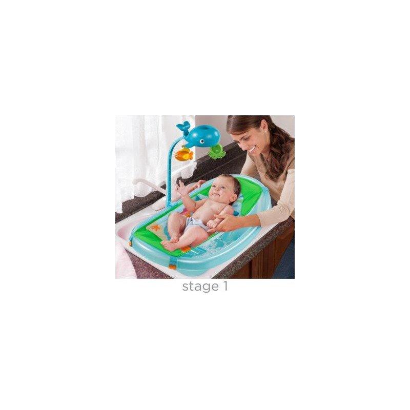 Summer Infant-09256-Set cadita suport de baita si bara de jucarii Ocean Buddies – Blue