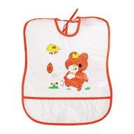 Sunny Baby - Baveta plastic moale 30x35 cm bear, Orange