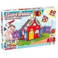 Supermag - Jucarie 3D cu magnet, Casuta, 60 piese