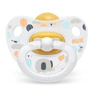 Nuk - NUK - Suzeta  Happy Kids Latex M2 Alb 6-18 luni