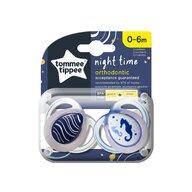 Tommee Tippee - Set suzete Calut de mare 0-6 luni, 2 buc, Ortodontice, De noapte, De noapte din Silicon