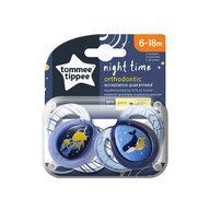 Tommee Tippee - Set suzete Meduze/Balenute 6-18 luni, 2 buc, Ortodontice, De noapte din Silicon