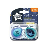 Tommee Tippee - Set suzete Pestisori/Pisica de mare 6-18 luni, 2 buc, Ortodontice, De noapte din Silicon
