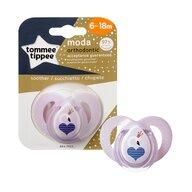 Tommee Tippee - Suzeta ortodontica Moda, 6-18 luni, Lebada roz