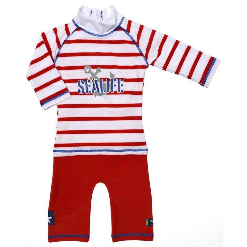 Costum de baie SeaLife red marime 86- 92 protectie UV Swimpy din categoria Plaja apa si nisip de la Swimpy