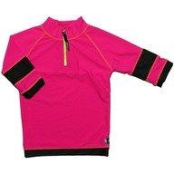 Tricou de baie pink black marime 98-104 protectie UV Swimpy