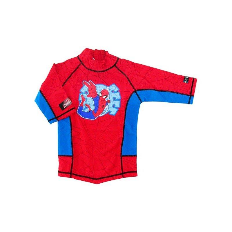 Tricou de baie Spiderman marime 122-128 protectie UV Swimpy din categoria Plaja apa si nisip de la Swimpy