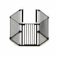 Noma - Tarc de siguranta  Modular, Cu 5 panouri din Metal, 315x73 cm, Negru