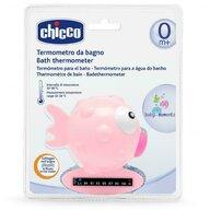 Chicco - Termometru de baie , forma de peste, Pink, 0luni+