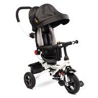 Toyz - Tricicleta Mecanism de pedalare libera, Suport picioare, Control al directiei, Pliabila Wroom, Negru