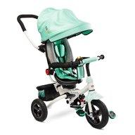 Toyz - Tricicleta Mecanism de pedalare libera, Suport picioare, Control al directiei, Pliabila Wroom, Turcoaz