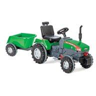 Pilsan - Tractor cu pedale Super Cu remorca, Verde