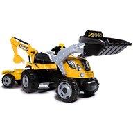 Smoby - Tractor cu pedale si remorca Builder Max, Galben